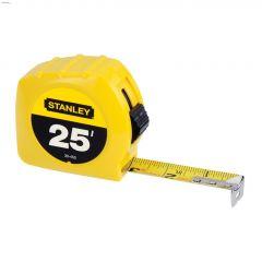 "1"" x 25' Yellow Tape Measure"