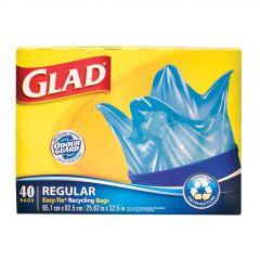 67 L Blue Regular Recycling Garbage Bag-40/Pack