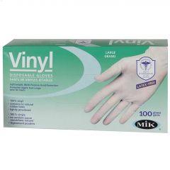 White Vinyl L Disposable Dura Touch Gloves