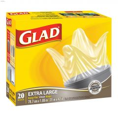 Glad Clear Extra Large Garbage Bag-20/Pack