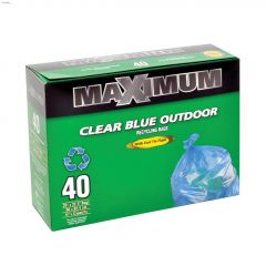 Clear Blue Outdoor Recycle Bag-40/Pack