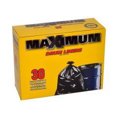 170 L Black Drum Liner Outdoor Garbage Bag-30/Pack