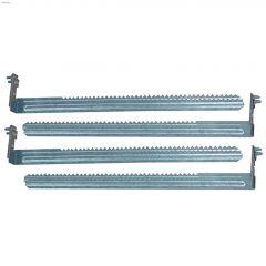 "14-1/2"" x 1-1/2"" Metal 5"" Recessed Hanger Bar Kit-4/Pack"