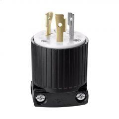 Black/White Locking Plug 20A 125V 2P/3W