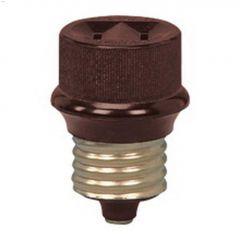 1 Outlet Keyless Brown Socket Adapter 125V