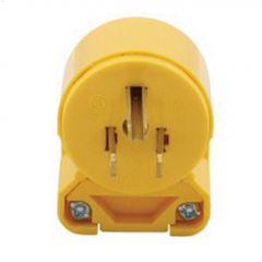 Yellow Angled Plug 15A 125V 2P/3W