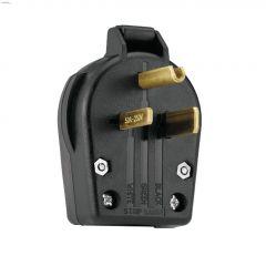 Black Angled Plug 30-50A 250V 2P/3W