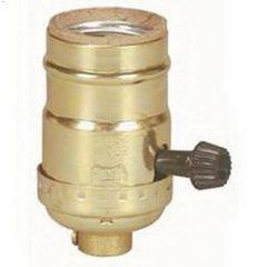 Brass Metal Shell Medium Base Turn Knob Lampholder