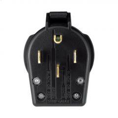 Black Universal Angled Plug 30-50A 125/250V 3P/4W