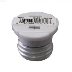 Keyless White Socket Adapter 125V