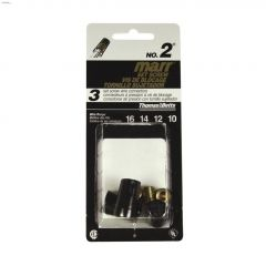 Marrette 16-10 AWG Black 2-Piece #2 Set Screw Wire Connector