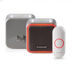 350' Plug-In Wireless Doorbell With Halo Light & Push Button