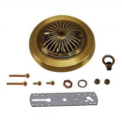 Antique Brass Deluxe Canopy Kit