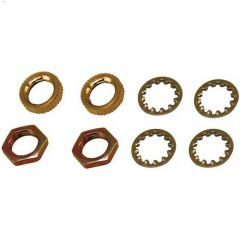 Zinc Plated Assorted Lock Nut-8/Pack