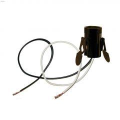 Black Phenolic Candelabra Base Socket With Lead