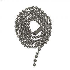 "36"" Satin Nickel Beaded Pull Chain"