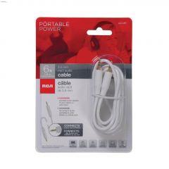 6' White Premium Audio Cable