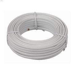 50' White Modular Line Cord