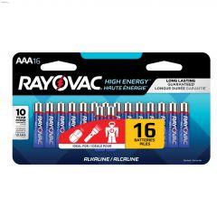 Rayovac Alkaline AAA Battery-16/Pack