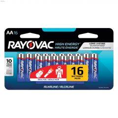 Rayovac Alkaline AA Battery-16/Pack