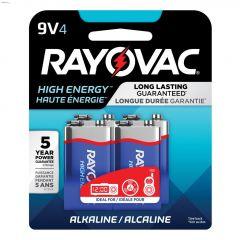 Rayovac 9V Alkaline Battery-4/Pack