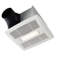 90 CFM 1.0 Sones Bathroom Fan With LED Light