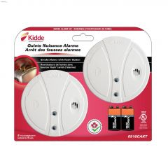 9V Battery Operated Smoke Alarm-2/Pack