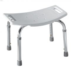 250 lb White Adjustable Shower Seat
