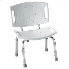 250 lb White Aluminum & Polypropylene Shower Chair