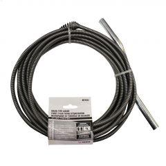 """3/8"""" x 25' Galvanized Spring Wire Drain Auger"""