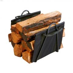 """17"""" x 16"""" x 13"""" Black Log Tote With Stand"""