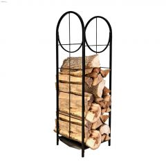 """48"""" x 14"""" x 14"""" Black Vertical Log Bin With Pullout Tray"""