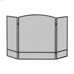 """48"""" x 30"""" Black 3-Panel Arched Screen With Bar"""