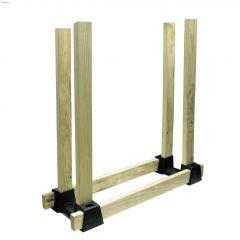 """14-1\/4\"""" Black Plastic Log Stacker"""
