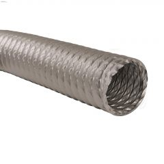 "4"" x 25' Grey Non-Insulated Flexible Air Duct"