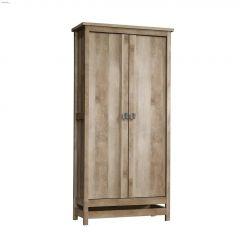 """Cannery Bridge 35-1/4"""" Lintel Oak Wood Storage Cabinet"""