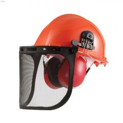 22 dB ABS Chainsaw Safety Helmet With Muff & Shield