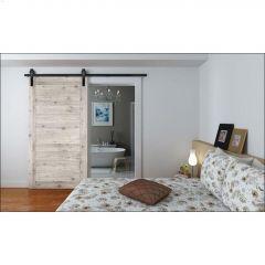 Barn Sliding Door Hardware - Black Contemporary