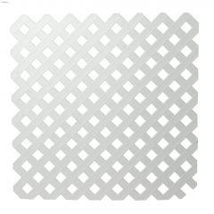White Plastic Privacy Lattice 4' x 8'