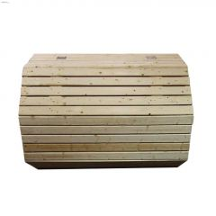 Wooden Octagon Garbage Can