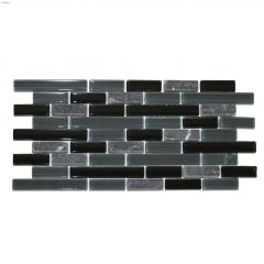 Sable Glass and Stone Mosaic Tile