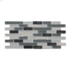 Arctic Glass and Stone Mosaic Tile
