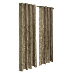 """52"""" x 84"""" Shiny Flowers Taupe Grommet Panel"""