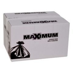 "Maximum Contractor Bag Black 33"" x 45""-100 Count"