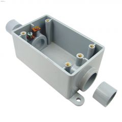 "Kraloy 3/4""-1/2"" 2-in-1 PVC FSC 1 Gang Box"