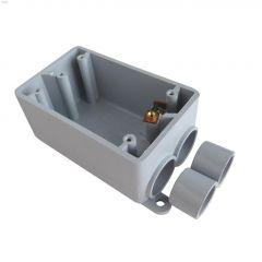 """Kraloy 3/4"""" -1/2"""" 1 Gang FSS PVC Box"""