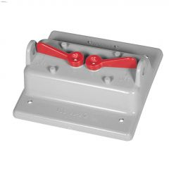 Kraloy PVC 2 Gang Weatherproof toogle switch Cover