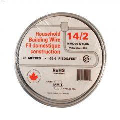 20m 14/2 White Wire