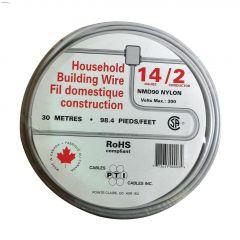 30m 14/2 White Wire