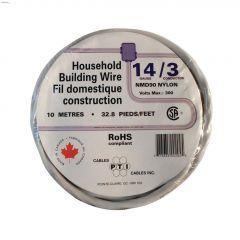 10m 14/3 White Wire